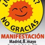 Cuartilla convocatoria manifestación antinuclear 8 de mayo anverso