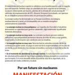 Cuartilla convocatoria manifestación antinuclear 8 de mayo reverso