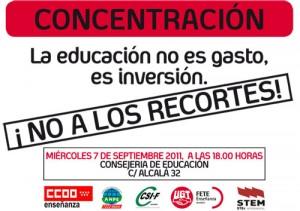 CONCENTRACIÓN CONTRA LOS RECORTES