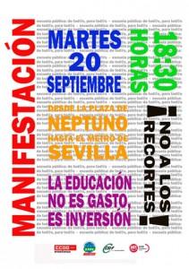 MANIFESTACIÓN CONTRA LOS RECORTES EN LA ENSEÑANZA PÚBLICA MADRILEÑA