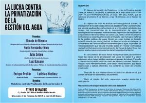 La lucha contra la privatización de la gestión del agua