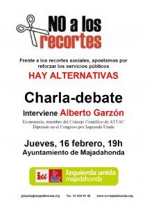 Charla debate con el Diputado Alberto Garzón el día 16 de Febrero