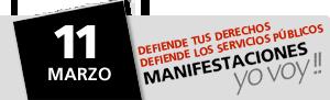 11 de Marzo Manifestación contra la Reforma Laboral