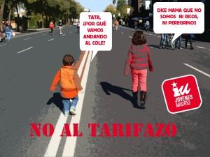 Jóvenes de IU-CM: CONTRA EL TARIFAZO: ¡BASTA DE RECORTES EN LO PÚBLICO!