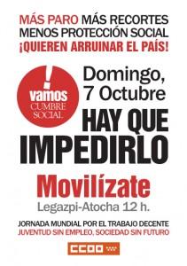 Manifestación 7 de Octubre 12 Horas Legazpi – Atocha