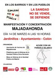Manifestación-concentración en Majadahonda por la sanidad pública 14 de Marzo 18:00
