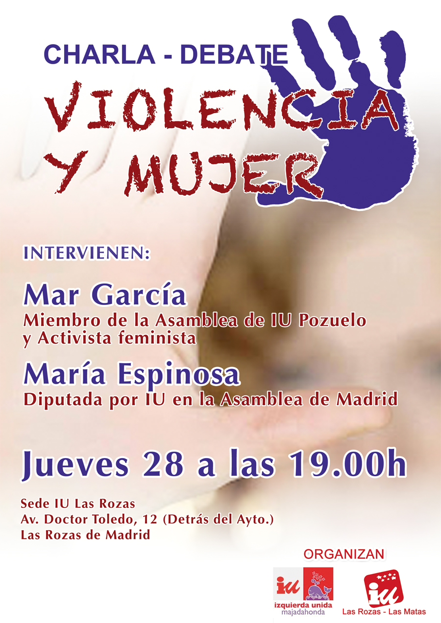 cartel acto violencia y mujer