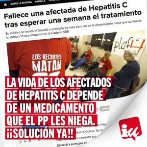 IZQUIERDA UNIDA SOLICITA AL AYUNTAMIENTO DE MAJADAHONDA QUE MUESTRE SU APOYO A LOS ENFERMOS DE HEPATITIS C