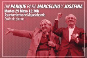 IU RECLAMA UNA CALLE, PARQUE O PLAZA DE MAJADAHONDA PARA MARCELINO CAMACHO Y JOSEFINA SAMPER