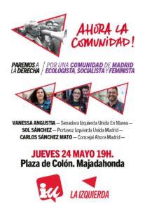 ¡Ahora la Comunidad! Jueves 24 de mayo 19h en la Plaza de Colón