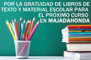 GRATUIDAD DE LIBROS DE TEXTO PARA EL PRÓXIMO CURSO EN MAJADAHONDA