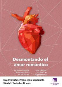 """""""Desmontando el amor romántico"""" con Vanessa Angustia (sábado 17 nov. 12h)"""