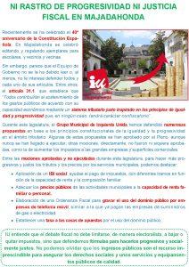 Ni rastro de progresividad ni justicia fiscal en Majadahonda