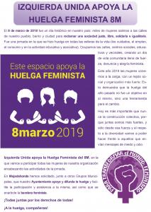 IZQUIERDA UNIDA APOYA LA HUELGA FEMINISTA 8M