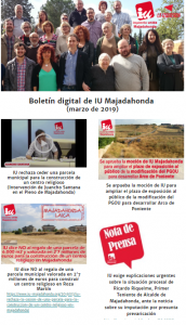 Boletín digital de IU Majadahonda (marzo 2019)
